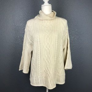 MAXMARA Wool Cashmere Cable Knit Fungo Sweater
